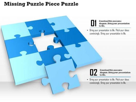 Business Diagram Missing Puzzle Piece Puzzle Presentation Template