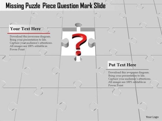 Business Diagram Missing Puzzle Piece Question Mark Slide Presentation Template