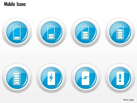 business_diagram_mobile_icons_showing_different_battery_strengths_ppt_slide_1