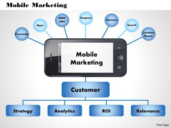 Business Diagram Mobile Marketing PowerPoint Ppt Presentation