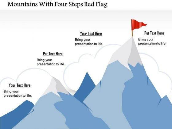 business_diagram_mountains_with_four_steps_red_flag_presentation_template_1 business diagram mountains with four steps red flag presentation