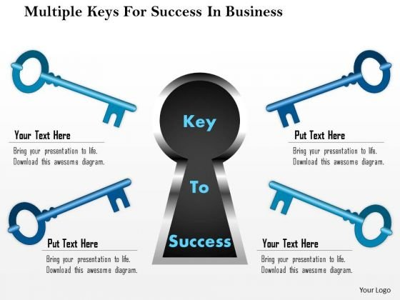 Business Diagram Multiple Keys For Success In Business Presentation Template