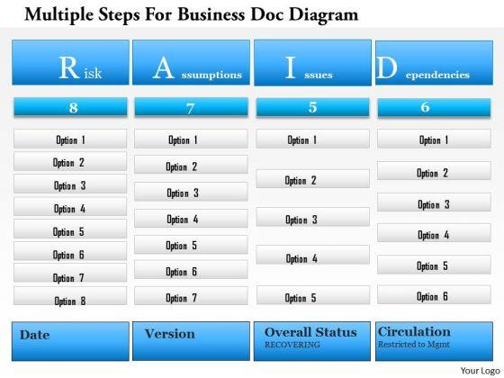 Business Diagram Multiple Steps For Business Doc Diagram Presentation Template