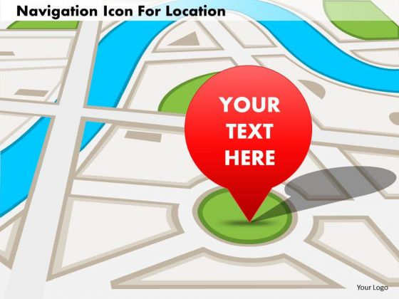 Business Diagram Navigation Icon For Location Presentation Template