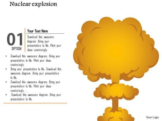 Business Diagram Nuclear Explosion Cloud Diagram Mushroom Cloud Presentation Template