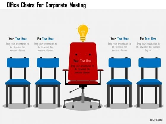 Business Diagram Office Chairs For Corporate Meeting Presentation Template