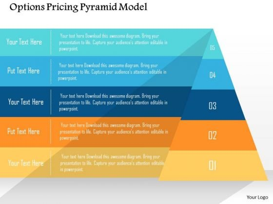 business diagram options pricing pyramid model presentation template