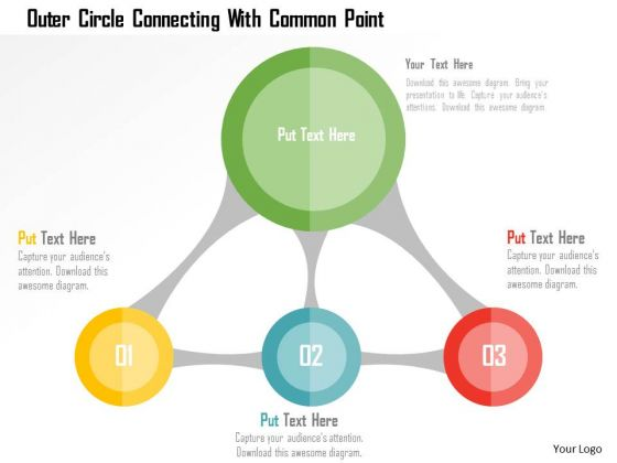 Business Diagram Outer Circle Connecting With Common Point Presentation Template