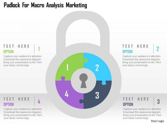 Business Diagram Padlock For Macro Analysis Marketing Presentation Template