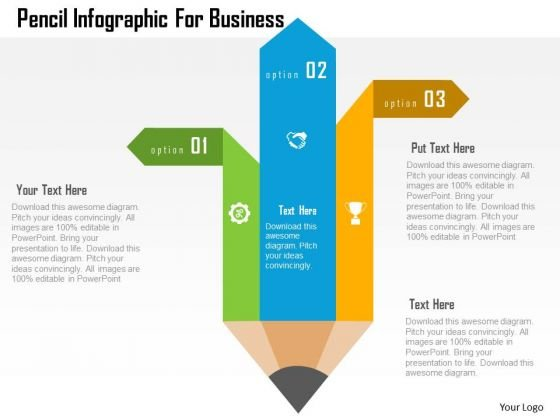 Business Diagram Pencil Infographic For Business Presentation Template