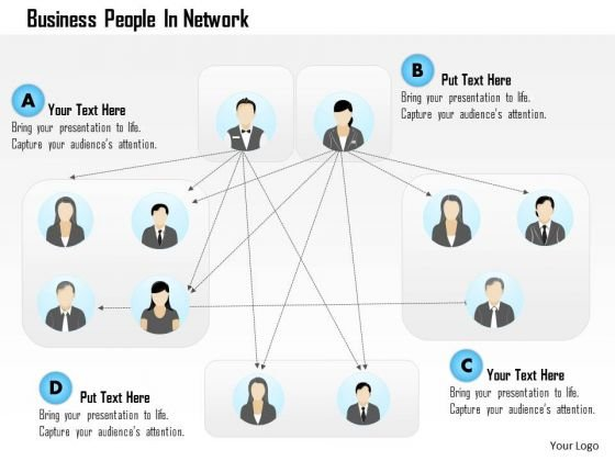 Business Diagram People In Network Presentation Template