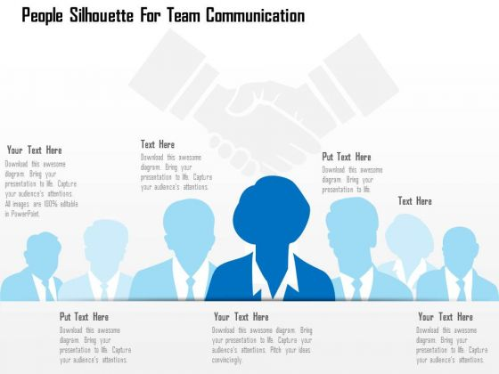 Business Diagram People Silhouette For Team Communication Presentation Template