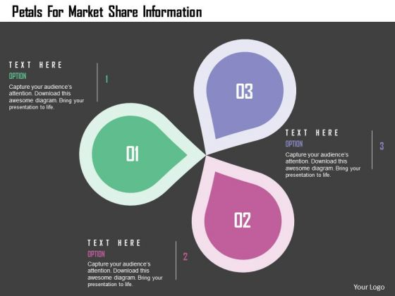 Business Diagram Petals For Market Share Information Presentation Template
