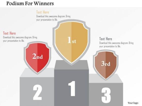 Business Diagram Podium For Winners Presentation Template
