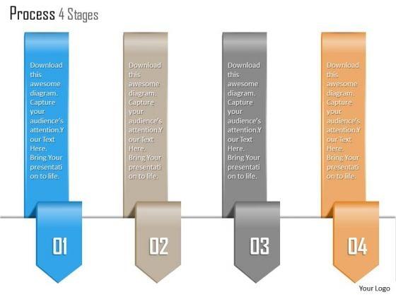 Business Diagram Process 4 Stages Agenda Info Graphic Diagram Presentation Template