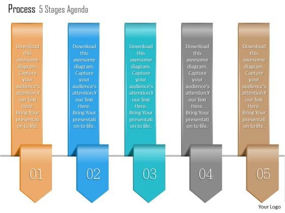 Business Diagram Process 5 Stages Agenda Info Graphic Diagram Slide Presentation Template