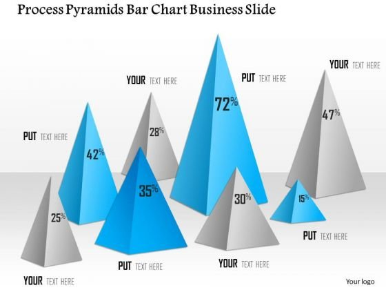 Business Diagram Process Pyramids Bar Chart Business Slide Presentation Template