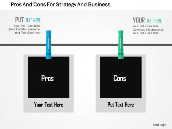 Business Diagram Pros And Cons For Strategy And Business Presentation Template