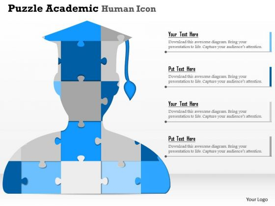 Business Diagram Puzzle Academic Human Icon Presentation Template
