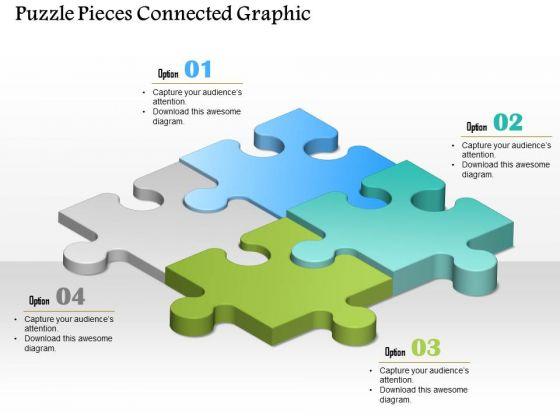 Business Diagram Puzzle Pieces Connected Graphic Presentation Template