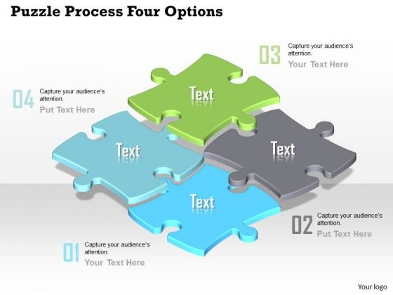 Business Diagram Puzzle Process Four Options Presentation Template