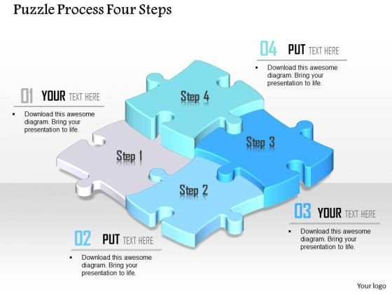 Business Diagram Puzzle Process Four Steps Presentation Template