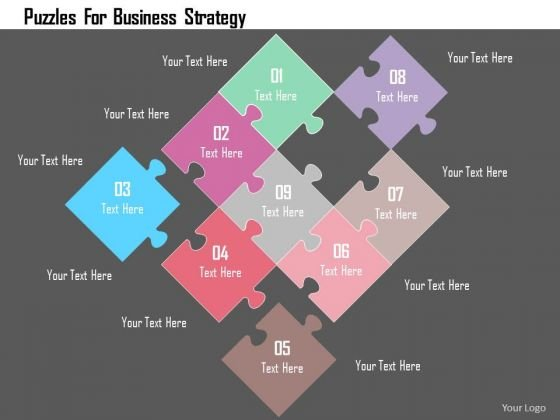 Business Diagram Puzzles For Business Strategy Presentation Template