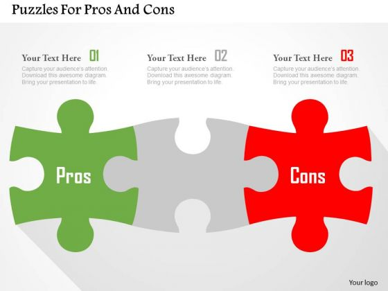 Business Diagram Puzzles For Pros And Cons Presentation Template