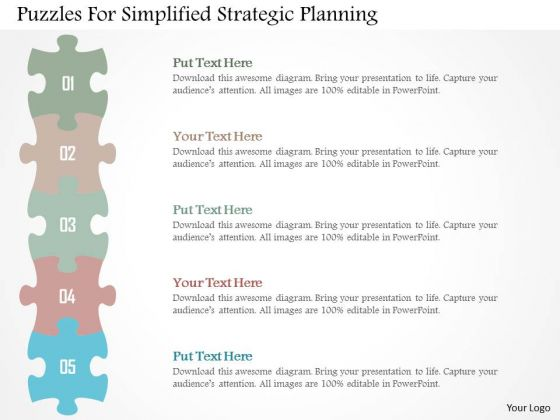 Business Diagram Puzzles For Simplified Strategic Planning Presentation Template