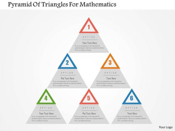 Business Diagram Pyramid Of Triangles For Mathematics Presentation Template