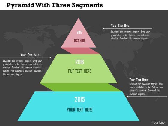 Business Diagram Pyramid With Three Segments Presentation Template