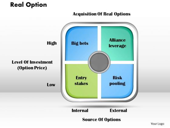 Business Diagram Real Option PowerPoint Ppt Presentation