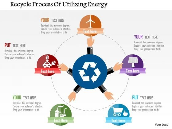 Business Diagram Recycle Process Of Utilizing Energy Presentation Template