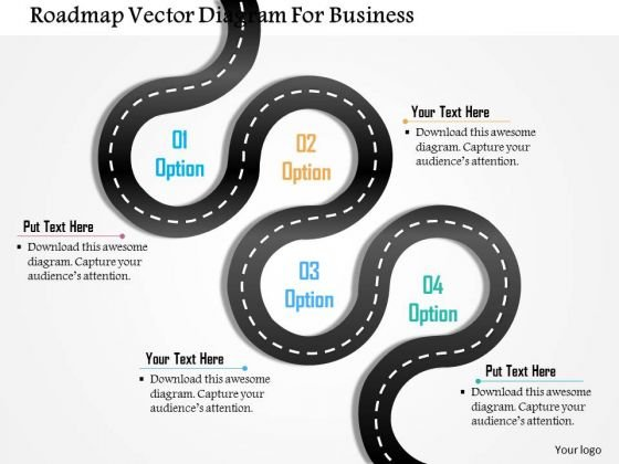 Business Diagram Roadmap Vector Diagram For Business Presentation Template