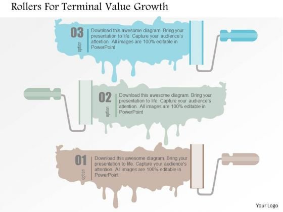 Business Diagram Rollers For Terminal Value Growth Presentation Template