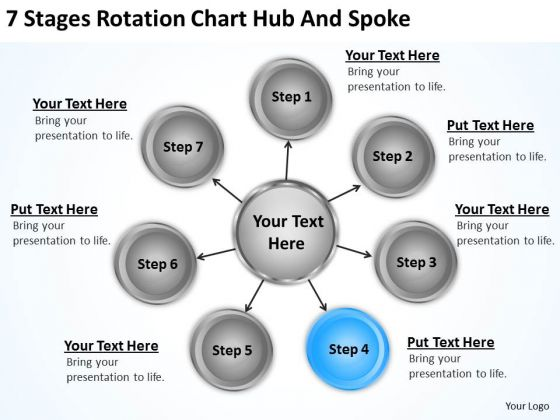 Business Diagram Rotation Chart Hub And Spoke PowerPoint Templates Backgrounds For Slides