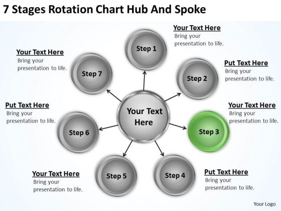 Business Diagram Rotation Chart Hub And Spoke Ppt PowerPoint Templates Backgrounds For Slides