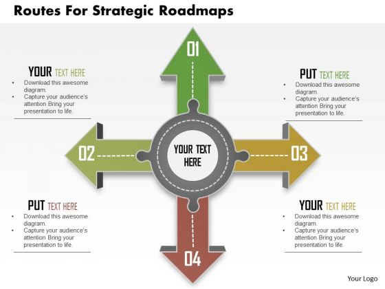 Business Diagram Routes For Strategic Roadmaps Presentation Template