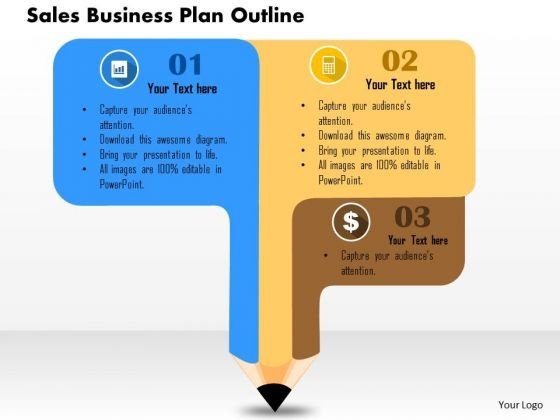 Business Diagram Sales Business Plan Outline Presentation Template