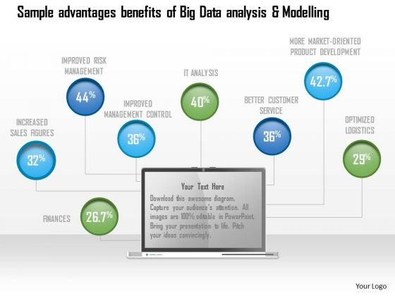 Business Diagram Sample Advantages Benefits Of Big Data Analysis