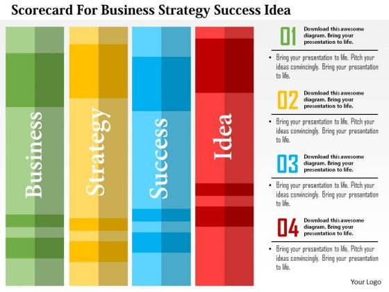 Business Diagram Scorecard For Business Strategy Success Idea Presentation Template