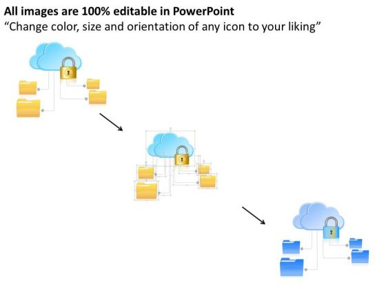 business_diagram_secure_connections_to_the_public_cloud_with_folders_and_lock_ppt_slide_2