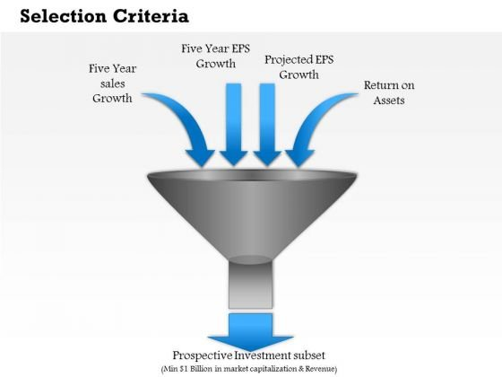 Business Diagram Selection Criteria PowerPoint Ppt Presentation