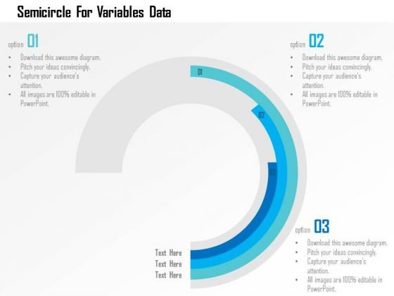 Business Diagram Semicircle For Variables Data Presentation Template