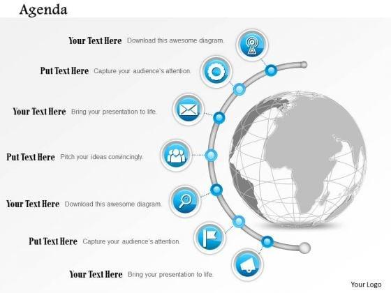 Business Diagram Seven Point Agenda Diagram Presentation Template