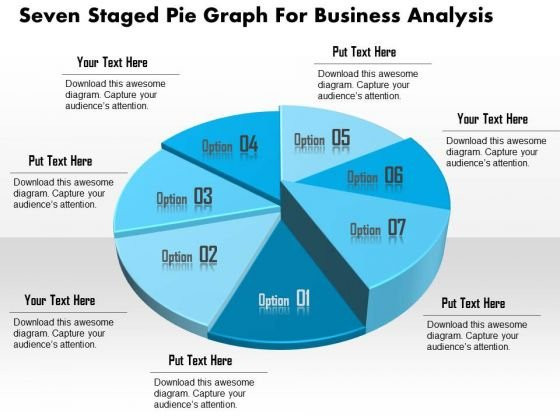 Business Diagram Seven Staged Pie Graph For Business Analysis – Business Analysis Template