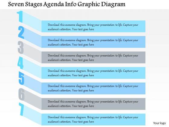 Business Diagram Seven Stages Agenda Info Graphic Diagram Presentation Template