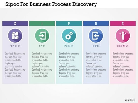 Business diagram sipoc for business process discovery presentation business diagram sipoc for business process discovery presentation template powerpoint templates flashek Gallery