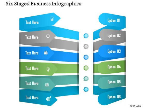 Business Diagram Six Staged Business Infographics Presentation Template