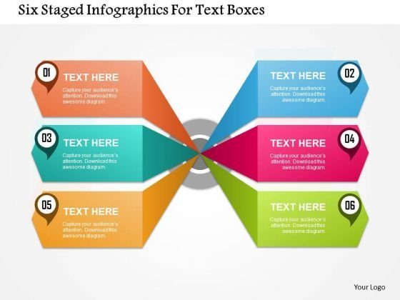 Business Diagram Six Staged Infographics For Text Boxes Presentation Template